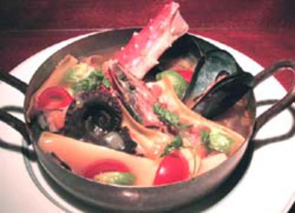 ミネストローネの魚介鍋