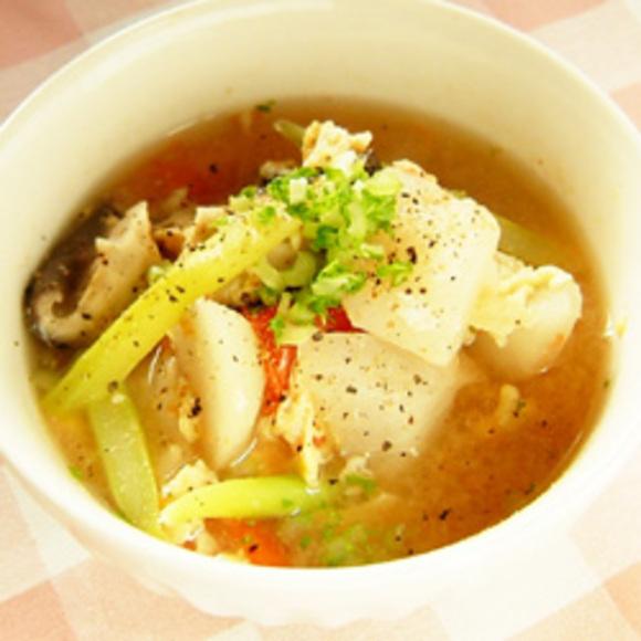 かぶの洋風かき卵スープ