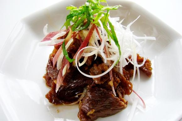 カンタン牛肉のしぐれ煮 さっぱり薬味添え