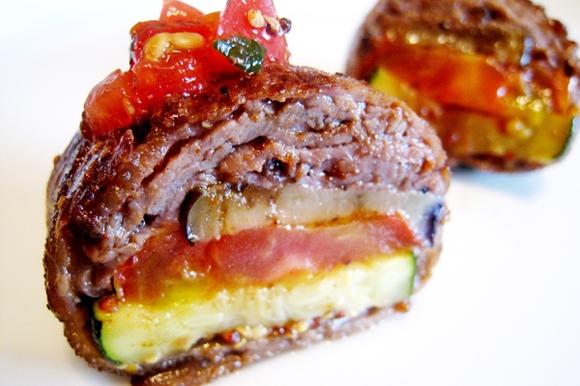 牛肉の夏野菜包み焼き