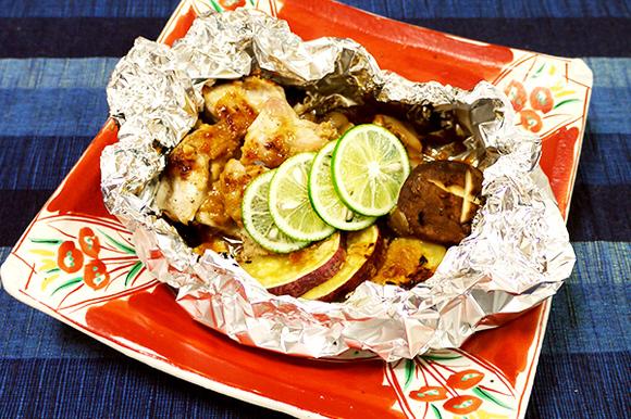 鶏肉と野菜のホイル包み焼き