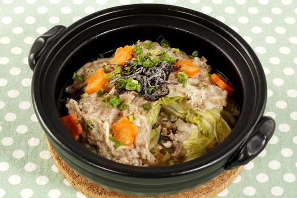 土鍋de簡単!豚肉と白菜の重ね蒸し