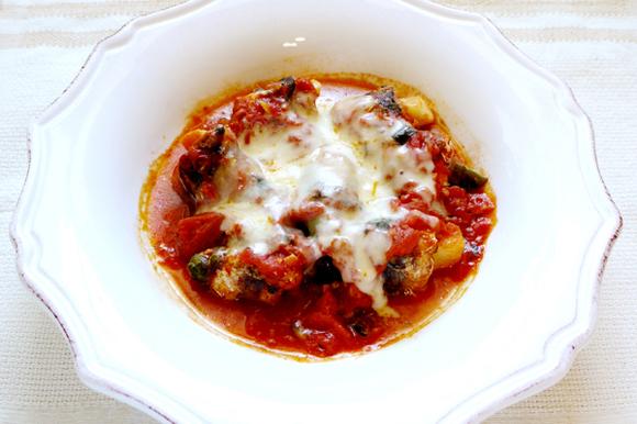 いわしの野菜巻き~トマトチーズ煮~