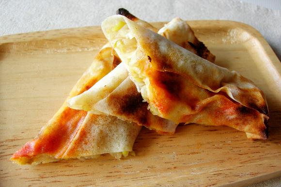 ねぎとチーズのあっさり焼春巻き