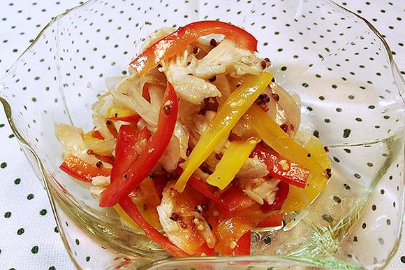 鶏ささみとパプリカのカラフルマリネサラダ