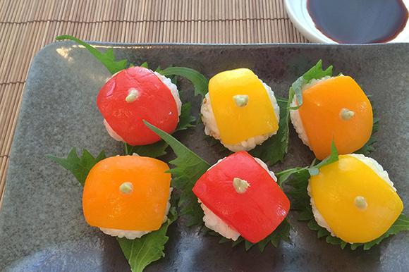 パプリカの手毬寿司