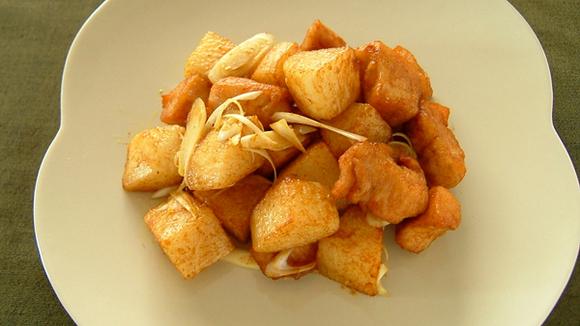 鶏肉と長芋のエスニック風 シャッキリ炒め