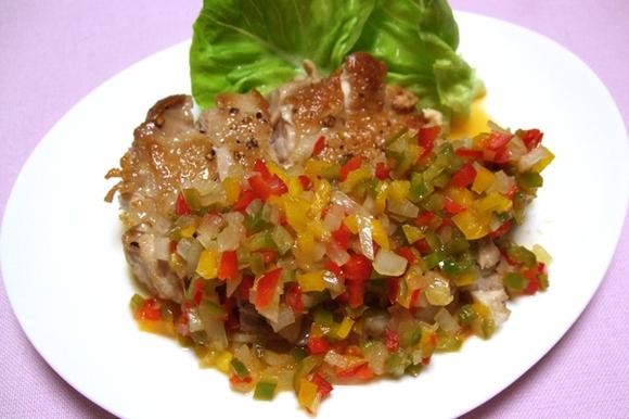鶏もも肉のソテー~キラキラソース