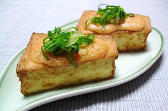 明太子マヨのせ 厚揚げのステーキ