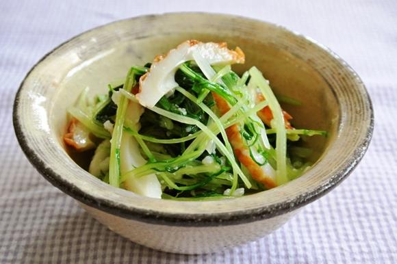 水菜とちくわの塩麹和え