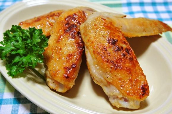 鶏手羽先のバターしょうゆ焼き