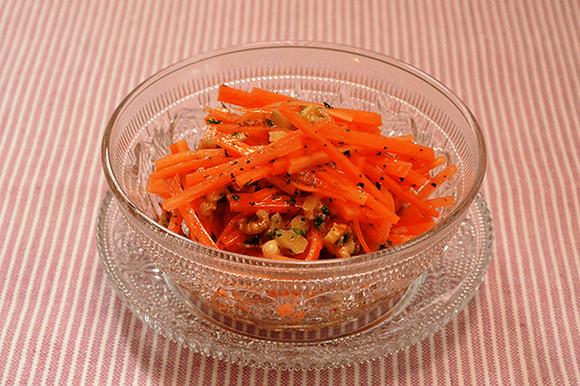 にんじんとくるみのサラダ