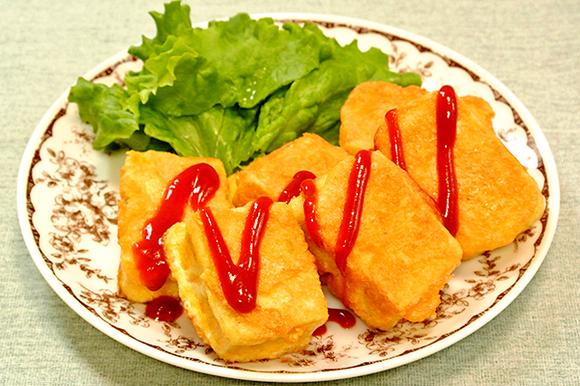 高野豆腐のスパイシーピカタ