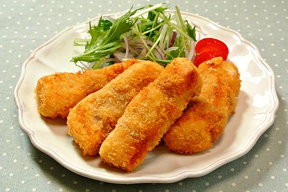 高野豆腐の肉巻きフライ