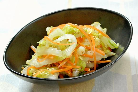 白菜のナムル風サラダ