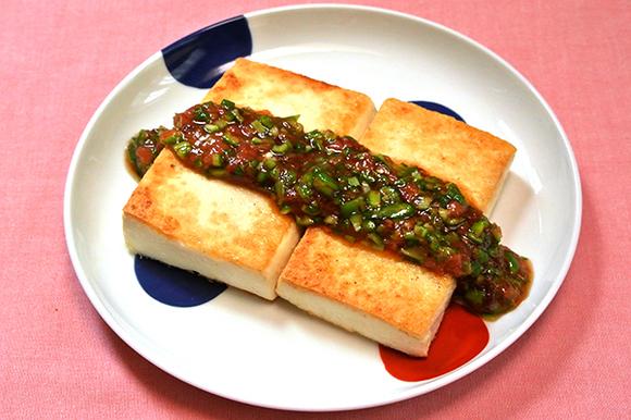 豆腐ステーキ オクラソース