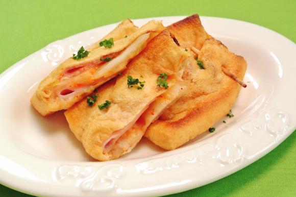 キムチチーズの挟み焼き